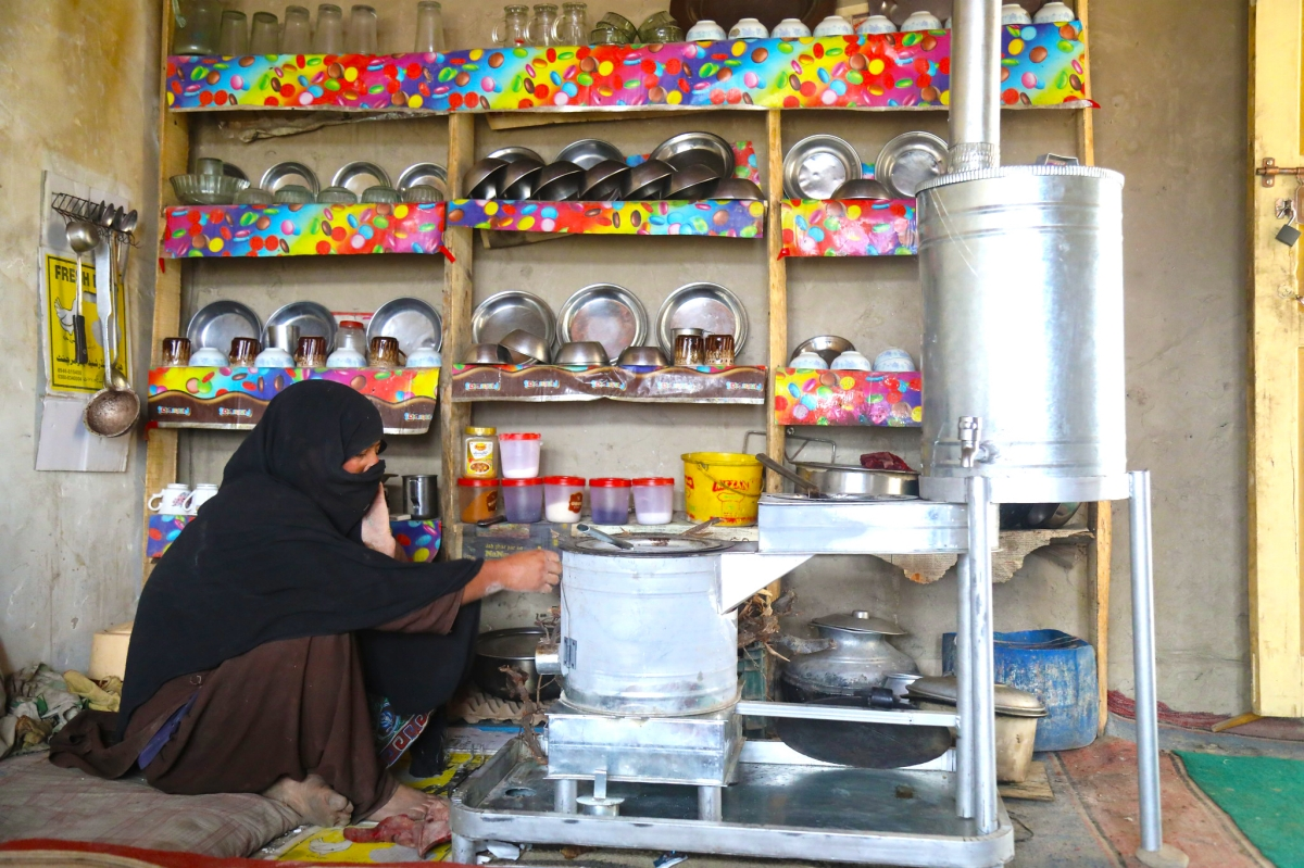Locally designed fuel-efficient stoves help households in Gilgit Baltistan to breathe clean air indoors