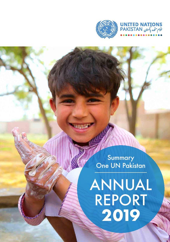 One UN Pakistan : Annual Report 2019