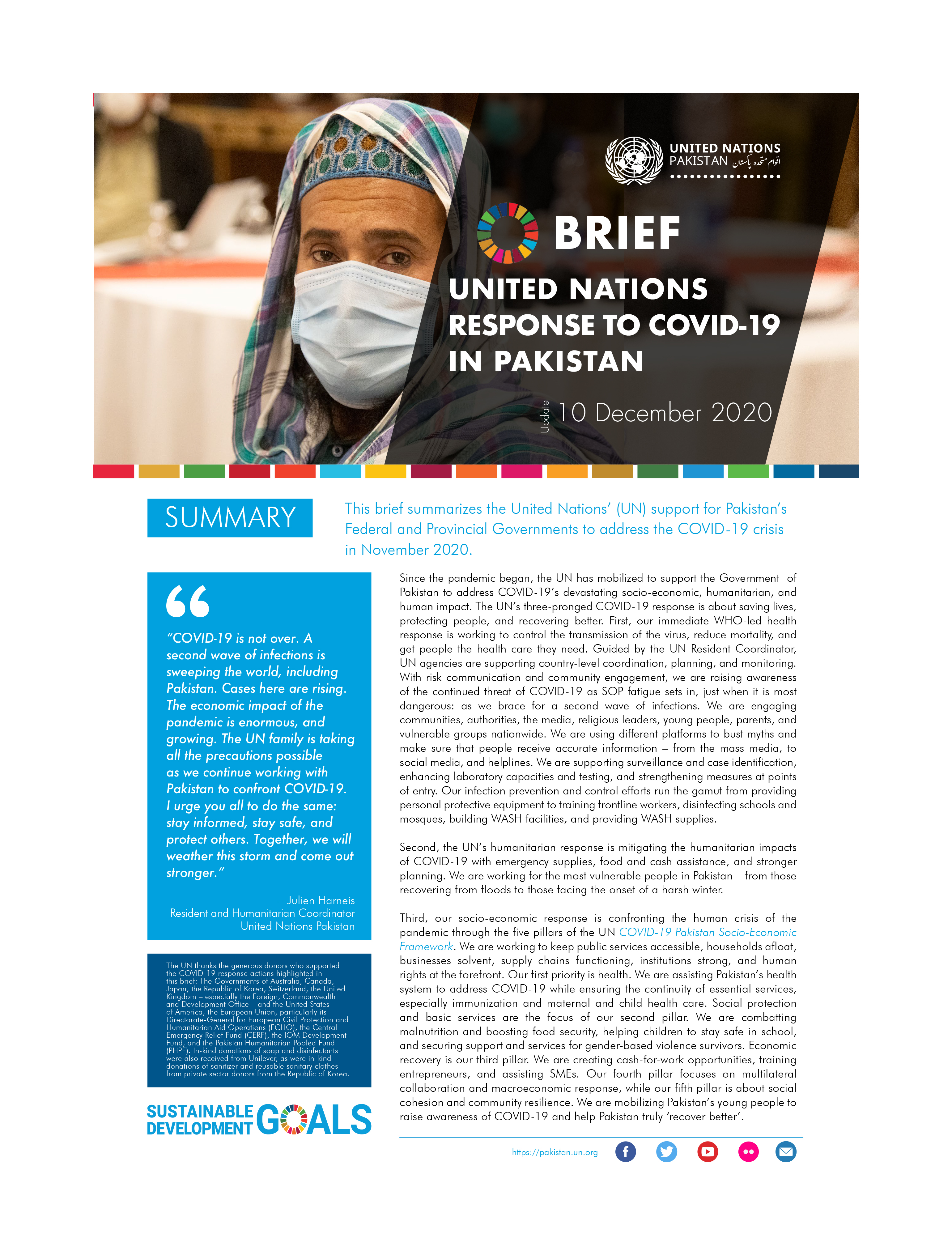 Brief: United Nations response to Covid-19 in Pakistan, December 2020