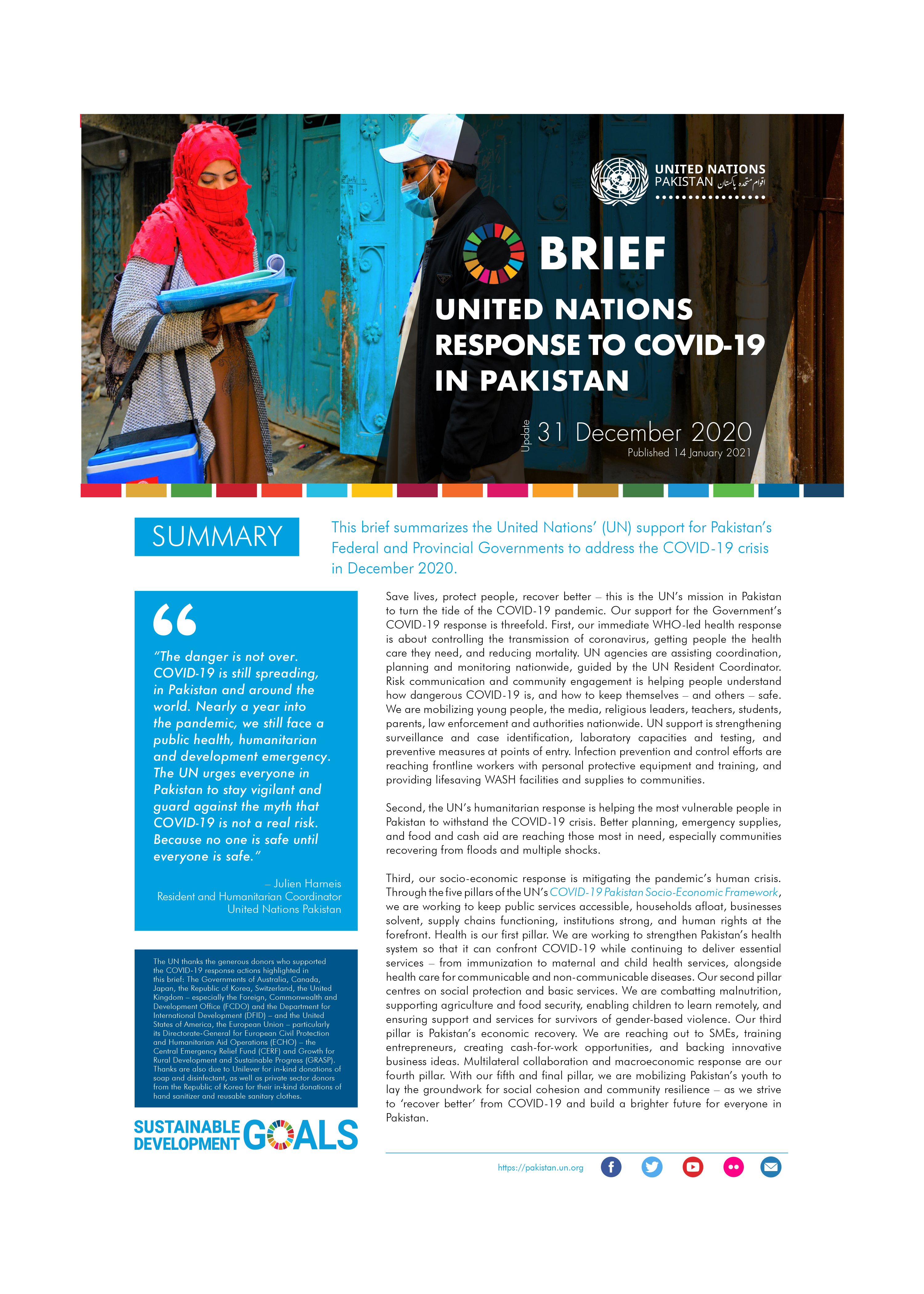 Brief: United Nations response to Covid-19 in Pakistan, December 2021